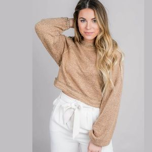 NEW Free People Jade Pullover Cropped SweaterMED